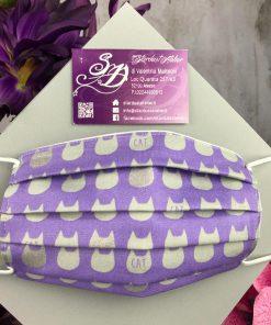 Mascherina gatti violetti adulto