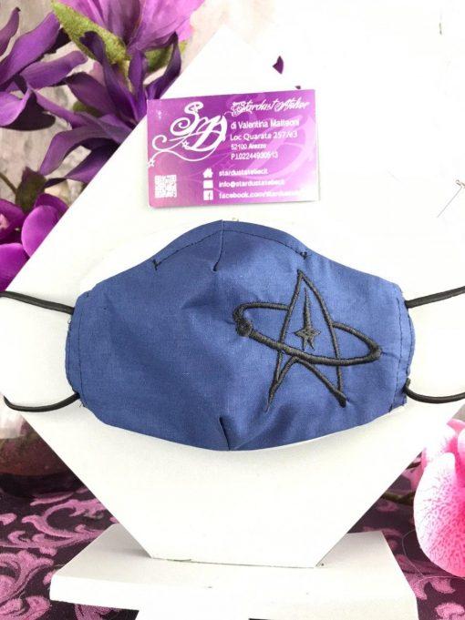 Mascherina Sagomata sci-fi blu