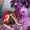 borsetta rossa cuori oro