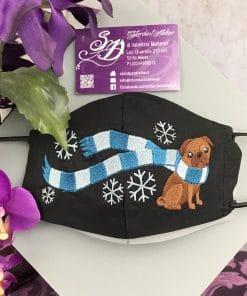 Mascherina Winter dog